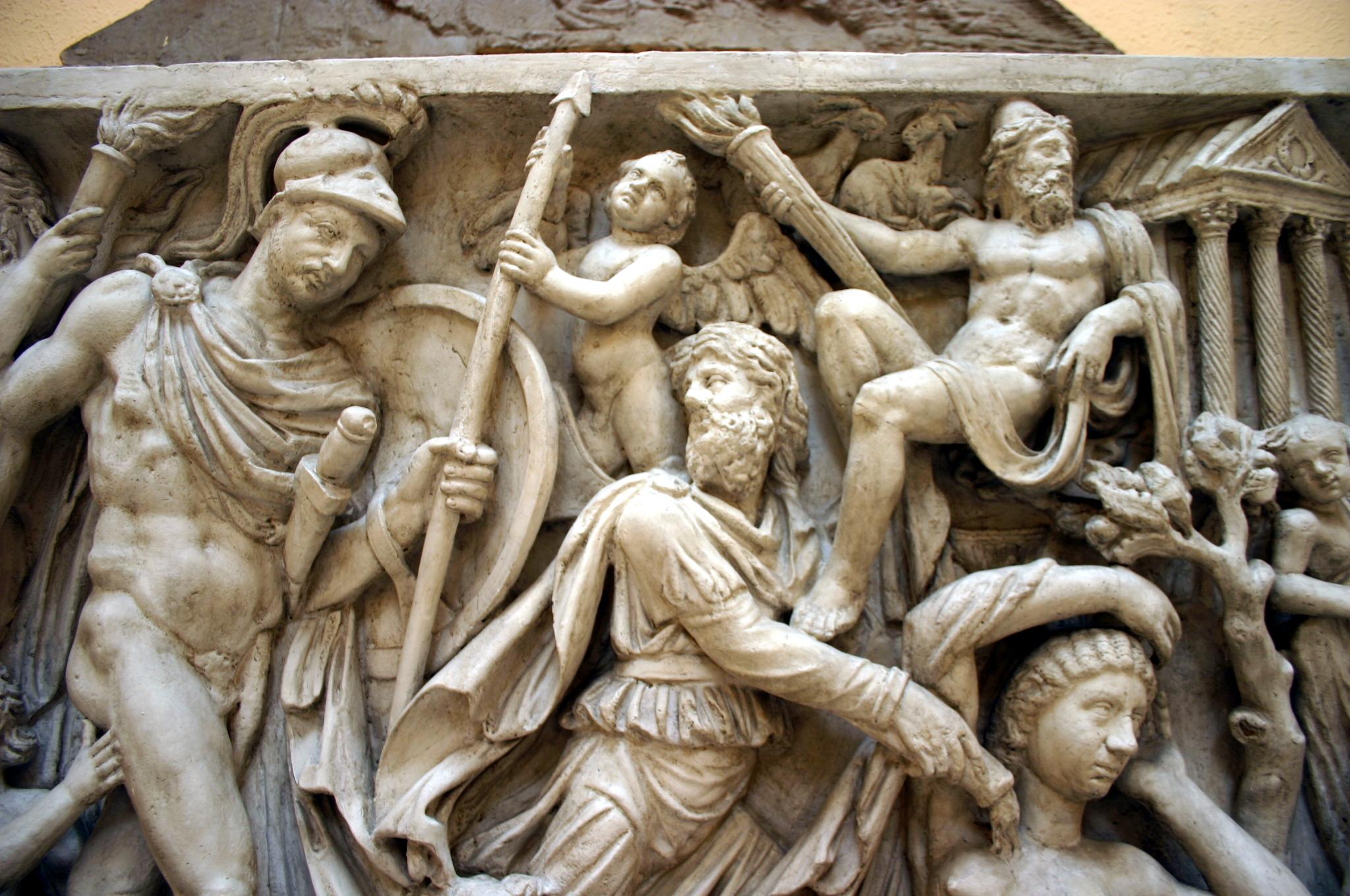 0459 - Roma, Museo d. civiltà romana - Sarcofago Mattei Foto Giovanni Dall'Orto, 12-Apr-2008.jpg