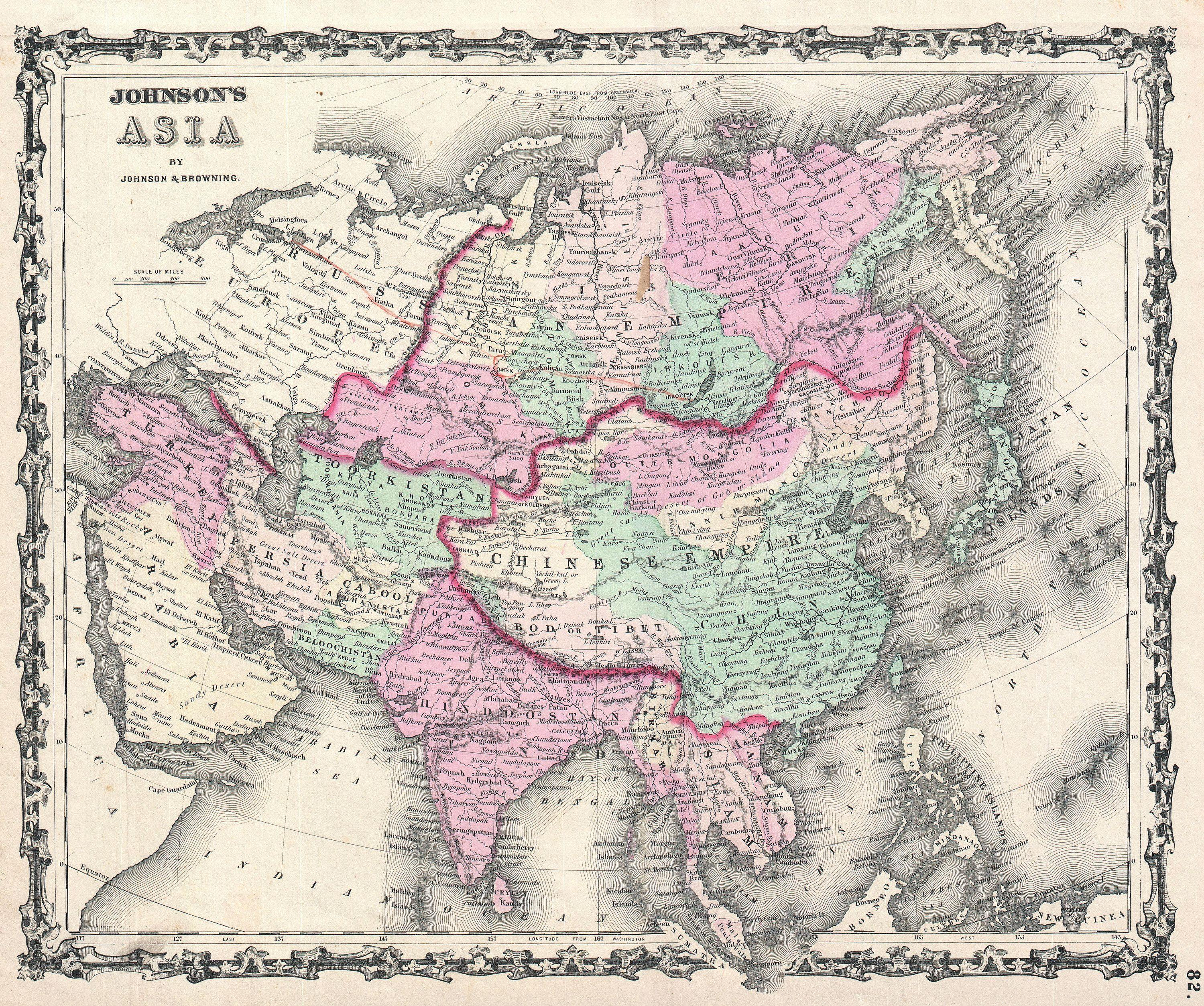 File1861 Johnson Map of Asia  Geographicus  Asiajohnson1861