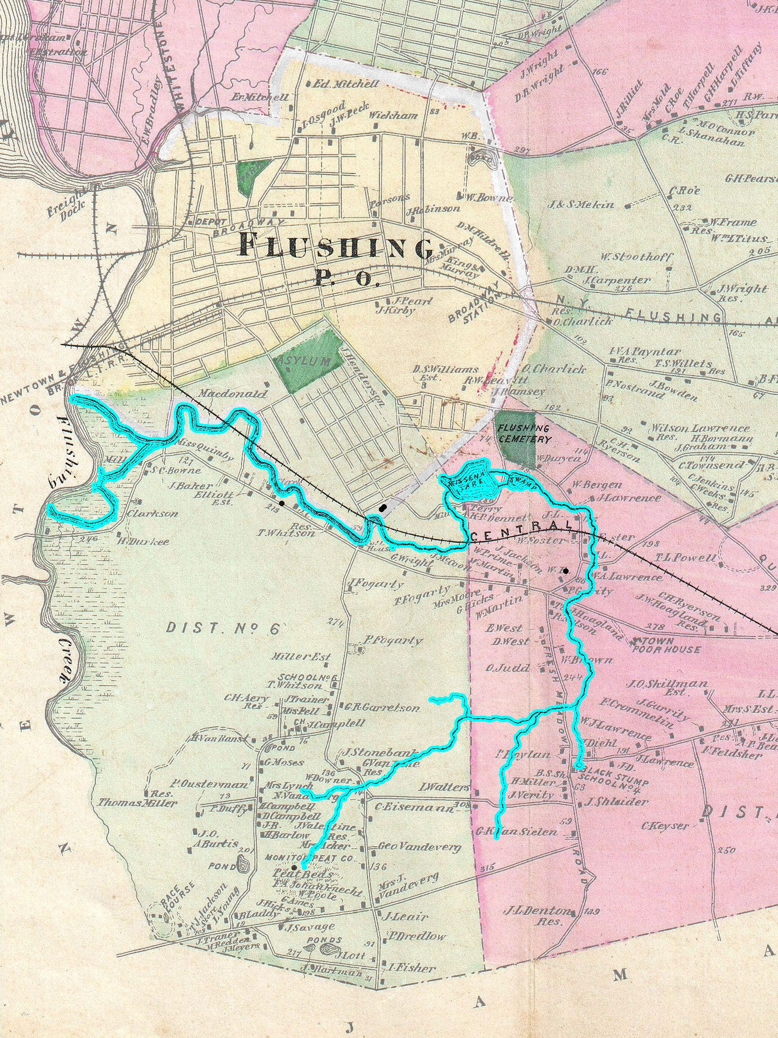 File:1873 Beers Map of Flushing and College Point, Queens ... on bayside queens ny map, queens west map, queens ny neighborhood street map, queens new york city neighborhood map, college point new york map, college point queens map,