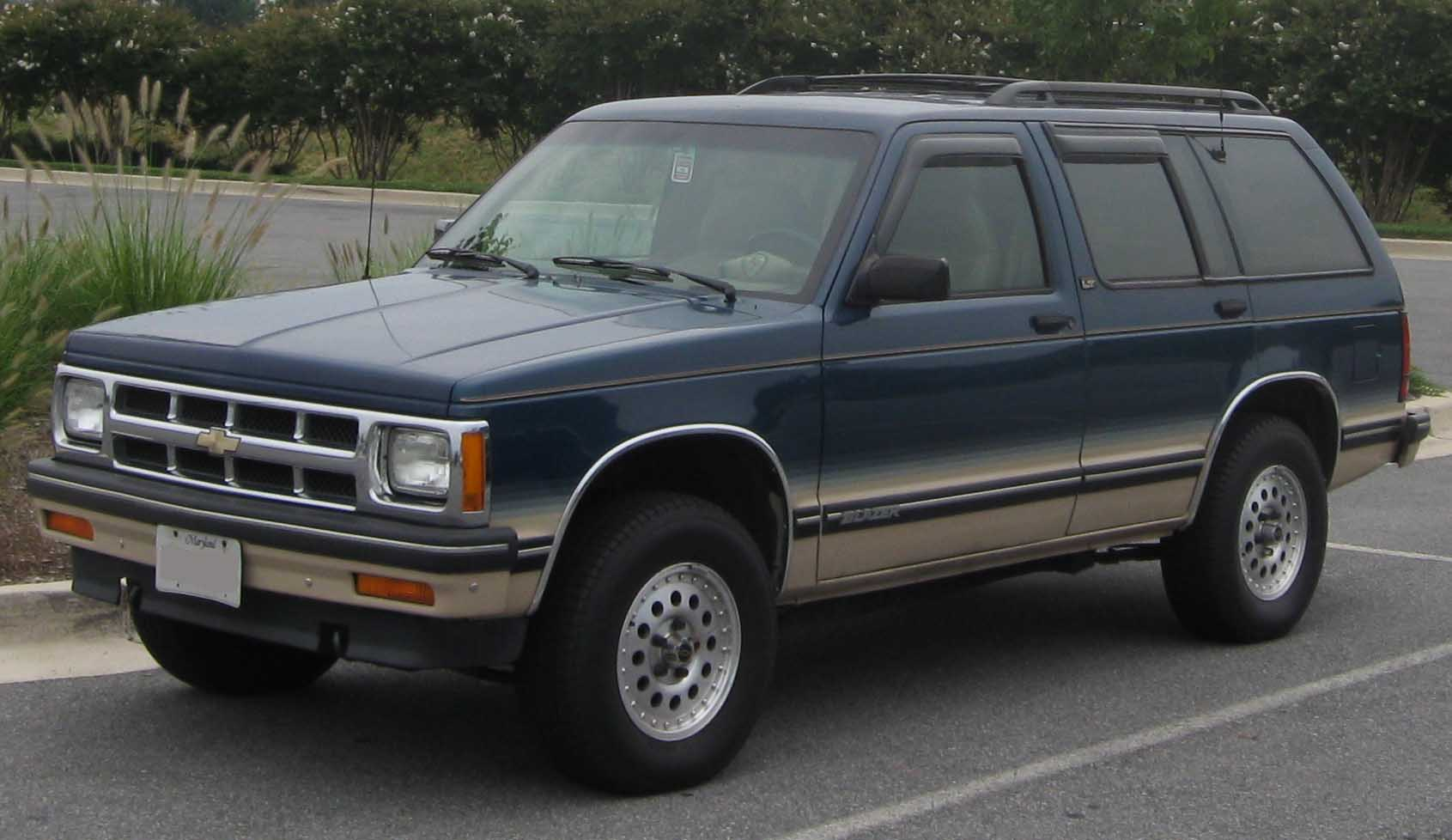Chevrolet S 10 Blazer on 1990 chevrolet envoy
