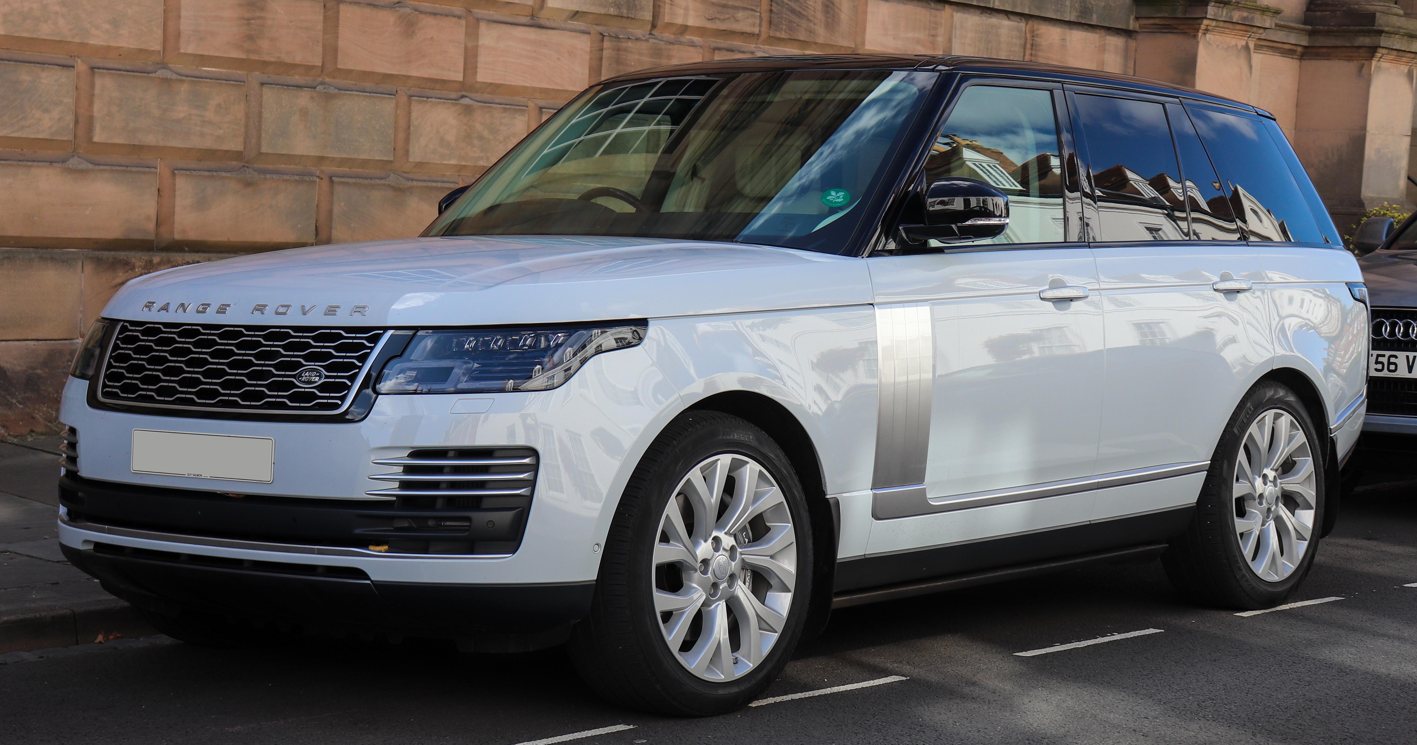 White Range Rover on a street