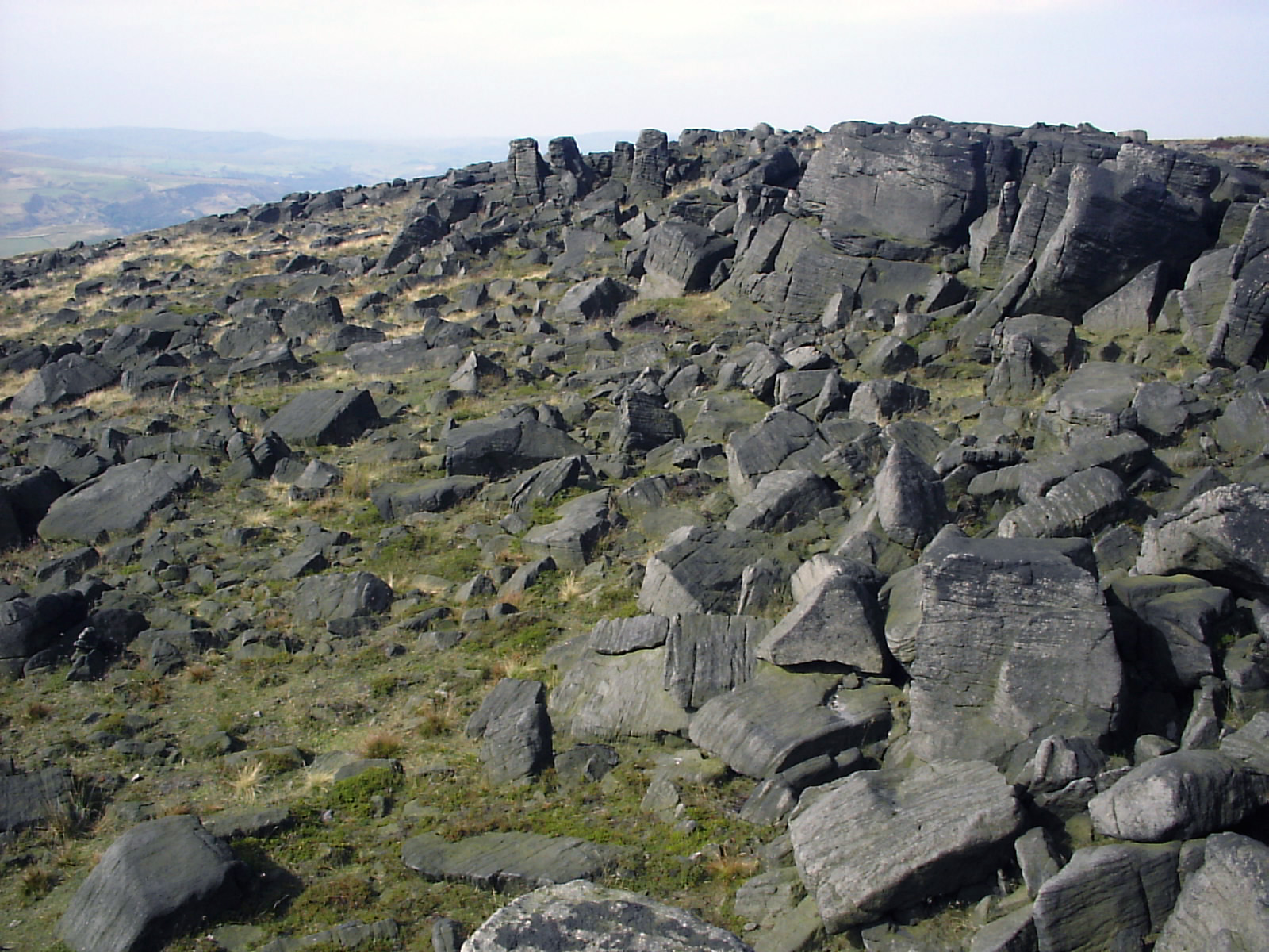 A sea of boulders at Blackstone Edge - geograph.org.uk - 271260