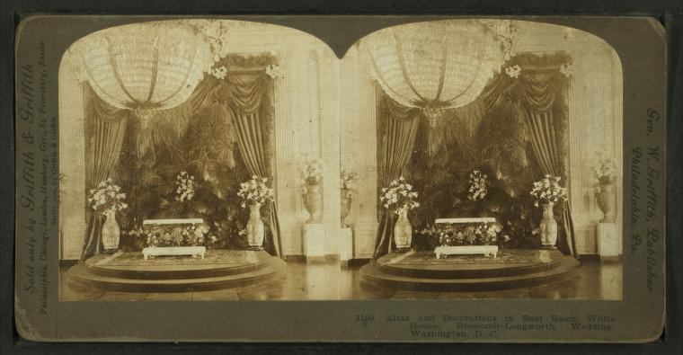 Wedding Room Decorations North East : File altar and decorations in east room white house