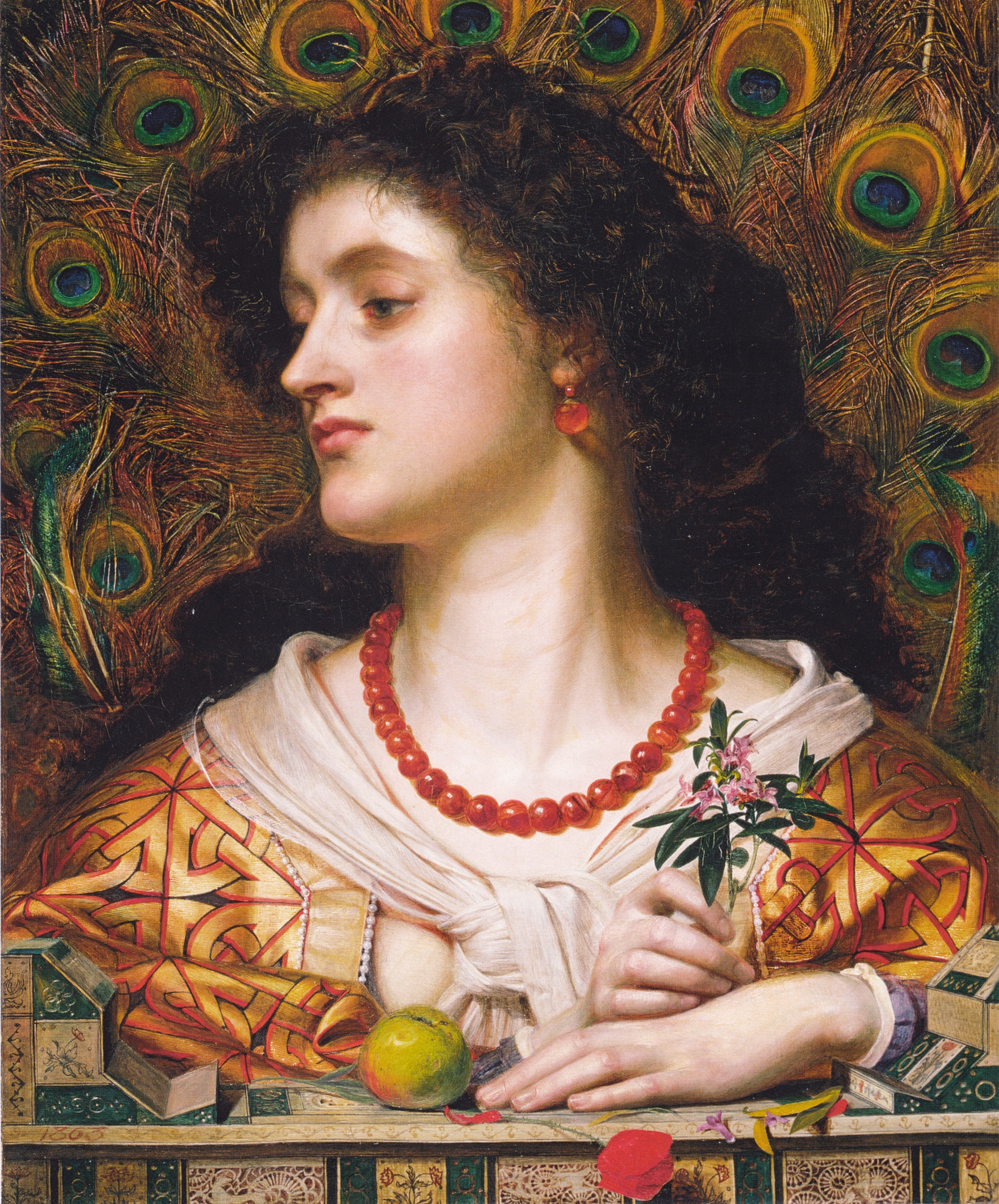 An image of Vivien by Frederick Sandys.