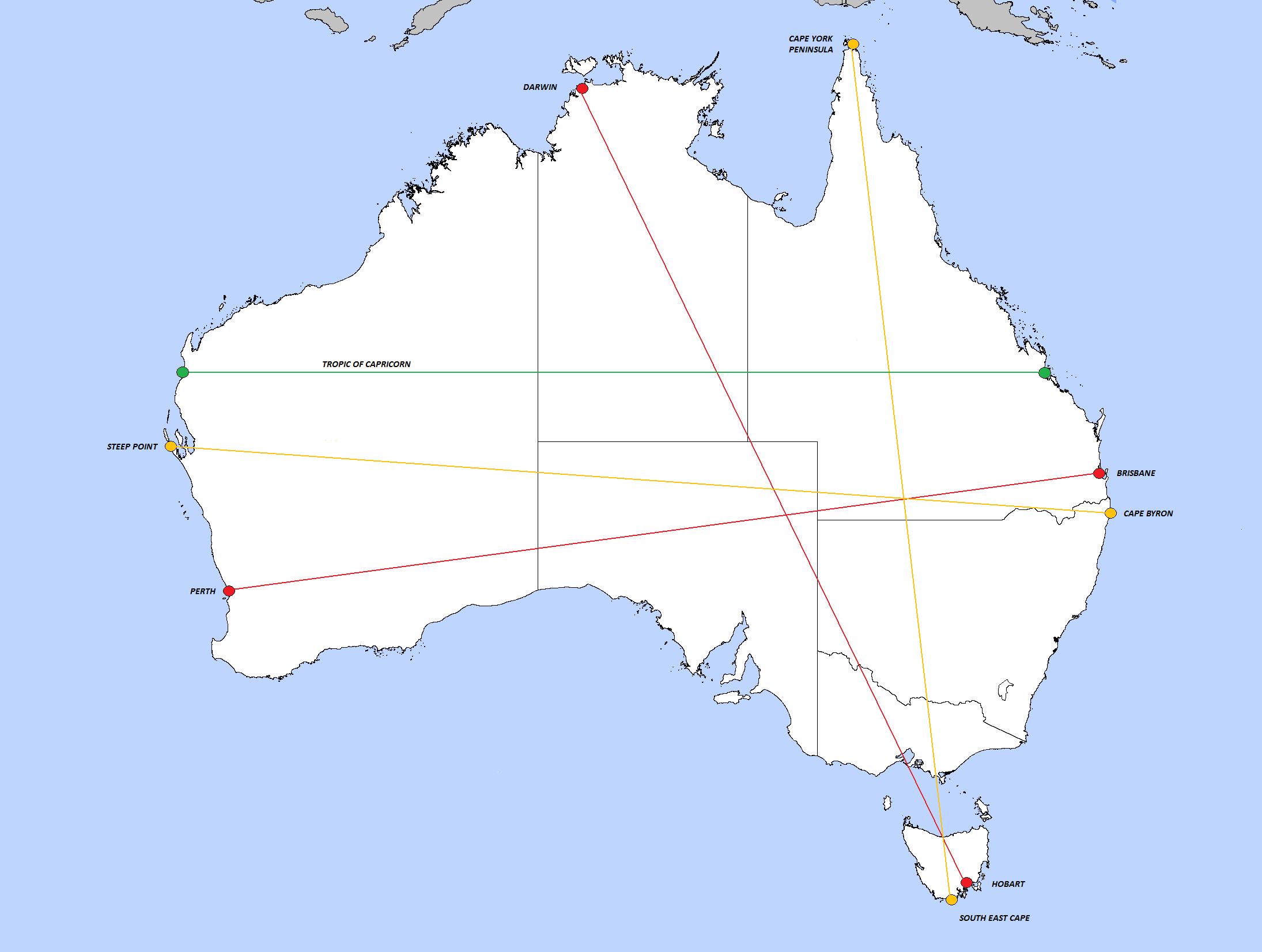 Australia Map Tropic Of Capricorn.Tropic Of Capricorn Australia Map