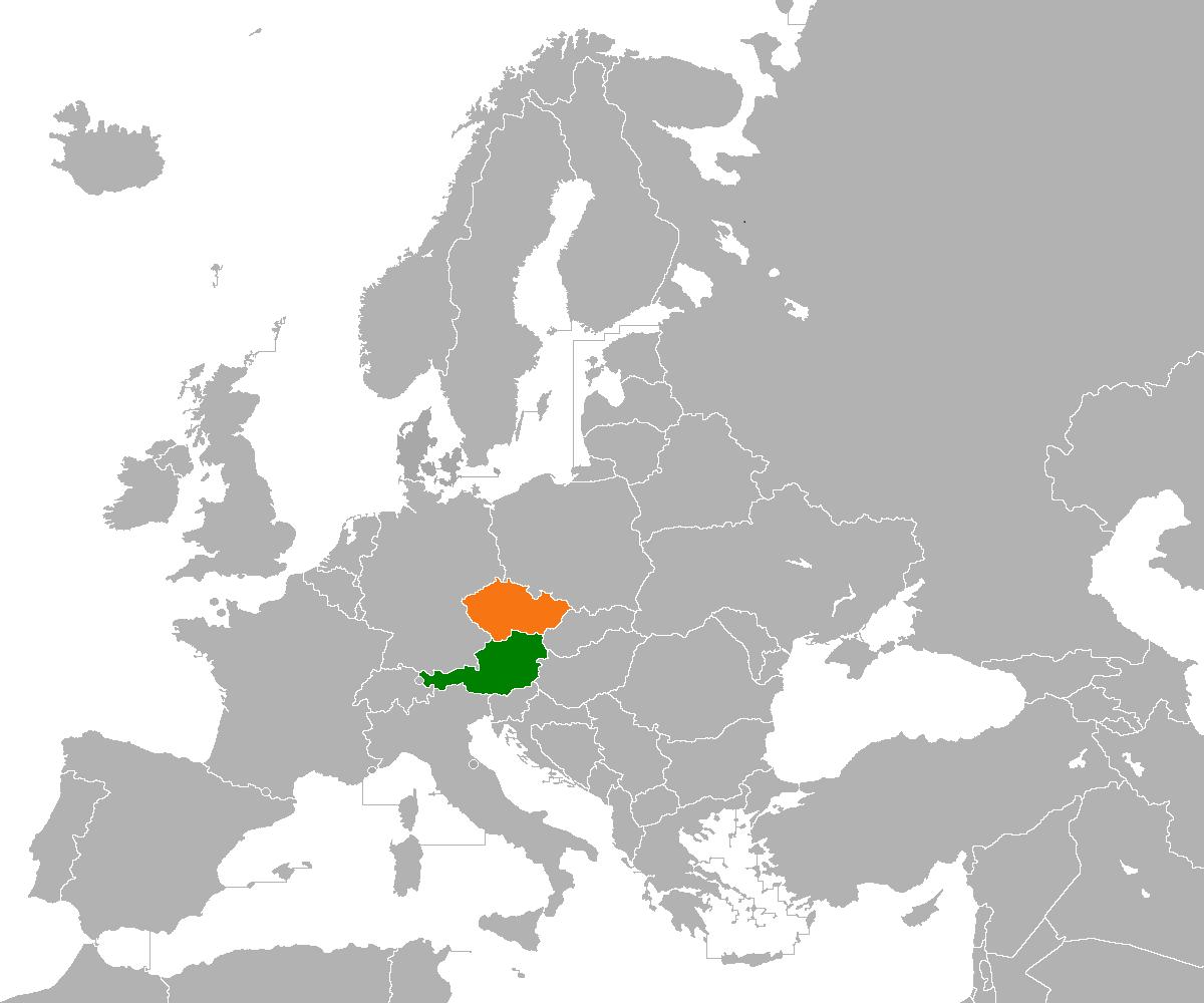 map of czech republic and austria Austria Czech Republic Relations Wikipedia map of czech republic and austria