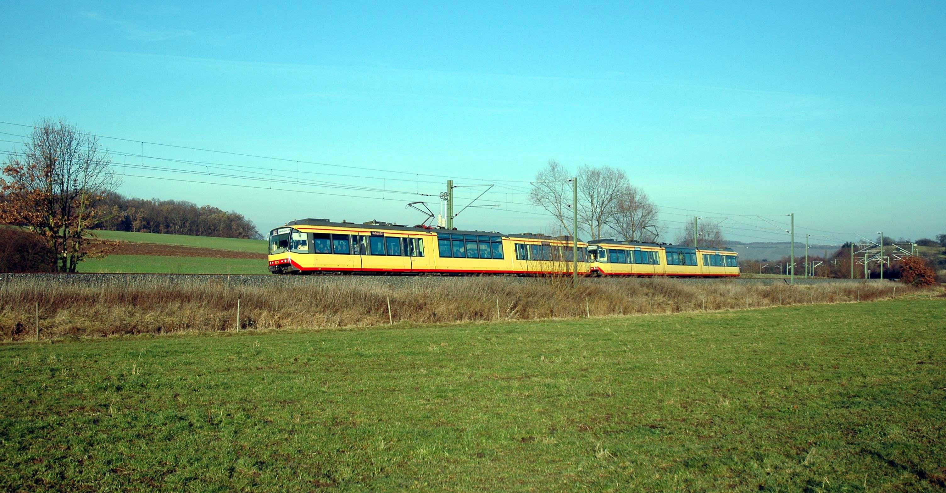 Stadtbahn auf Hohenlohebahn