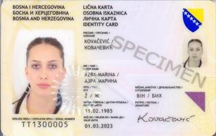 Bosnia And Herzegovina Identity Card Wikipedia