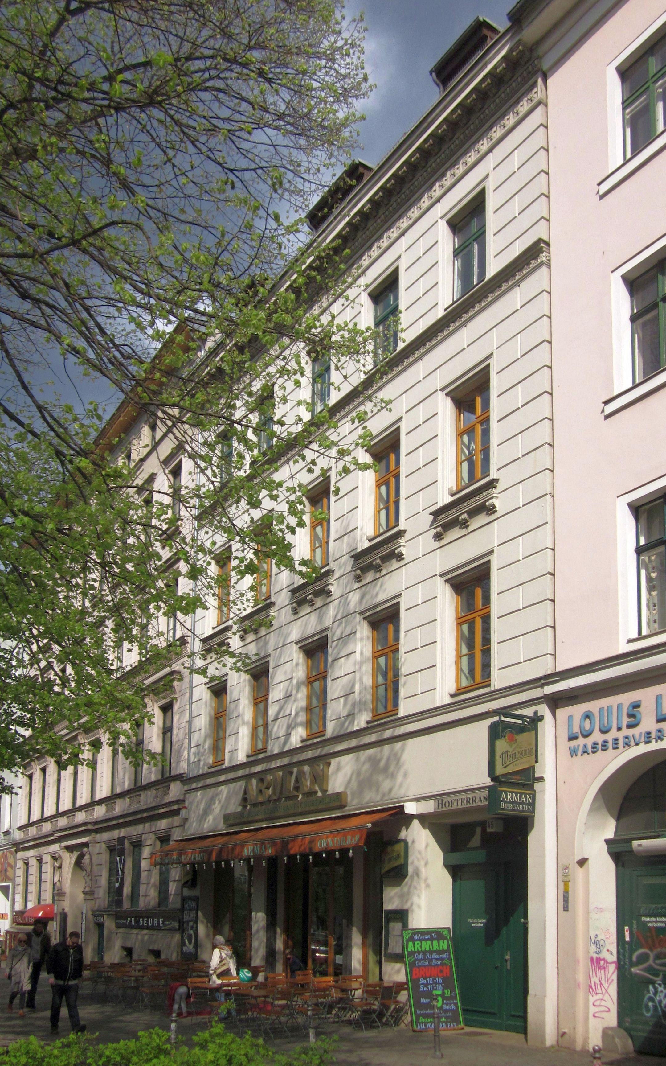 Datei Berlin Kreuzberg Mehringdamm 45 Mietshaus Mit