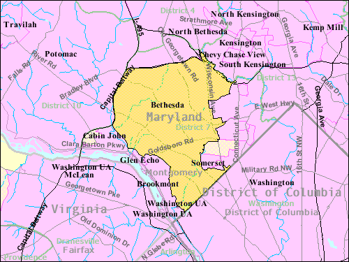 Bethesda Maryland Wikipedia - Maryland usa map