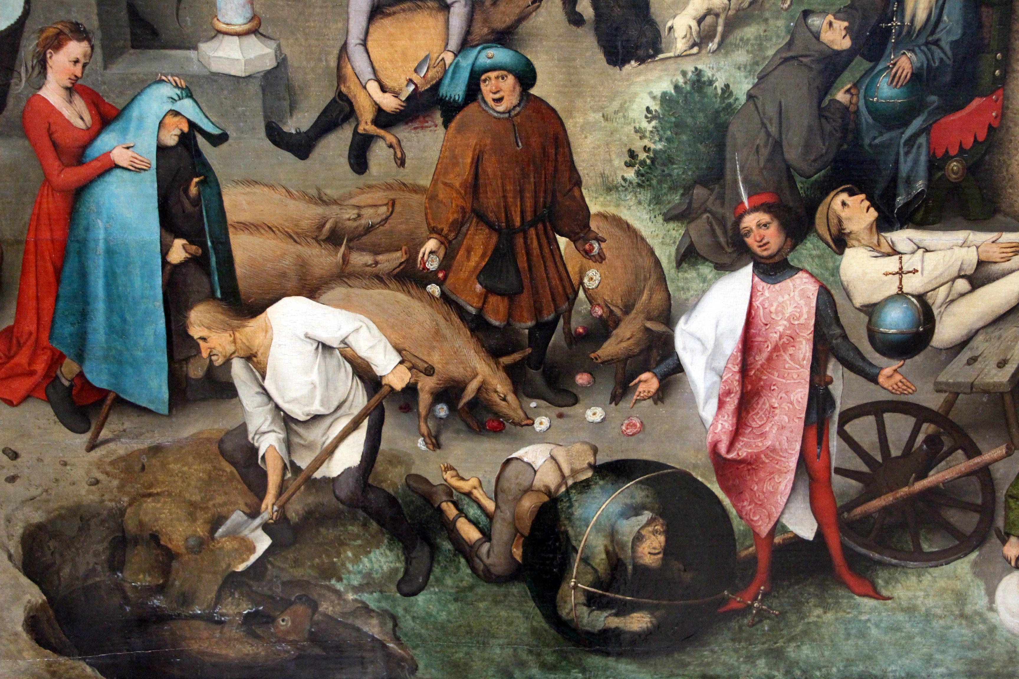 File:Bruegel il vecchio, proverbi fiamminghi, 1559, 21.JPG