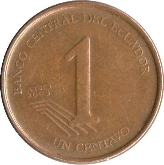 Diez Centavos de Dolar Centavos de Dólar de Ecuador