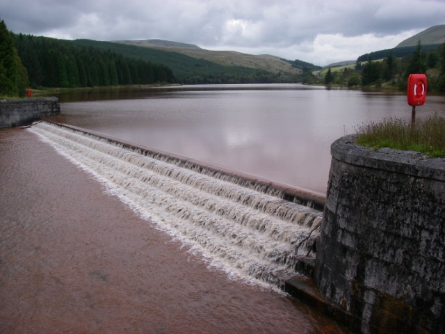 Cantref Reservoir after a storm - geograph.org.uk - 955723