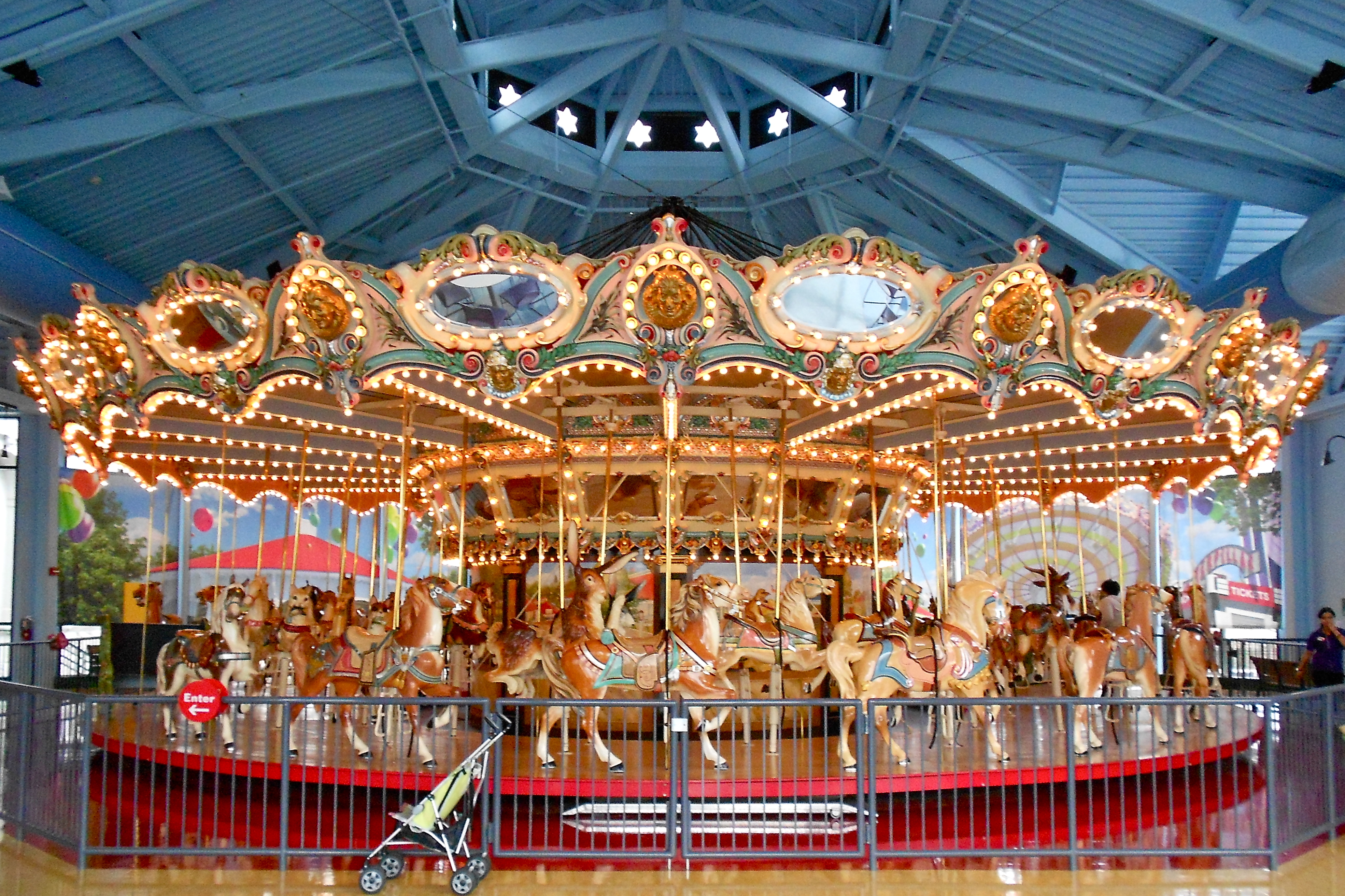 the broad ripple park carousel an Broad ripple park carousel is an antique carousel in the children's museum of indianapolisit was installed in 1917 at an amusement park near the white river in indianapolis, indiana, where it remained until the building housing it collapsed in 1956.