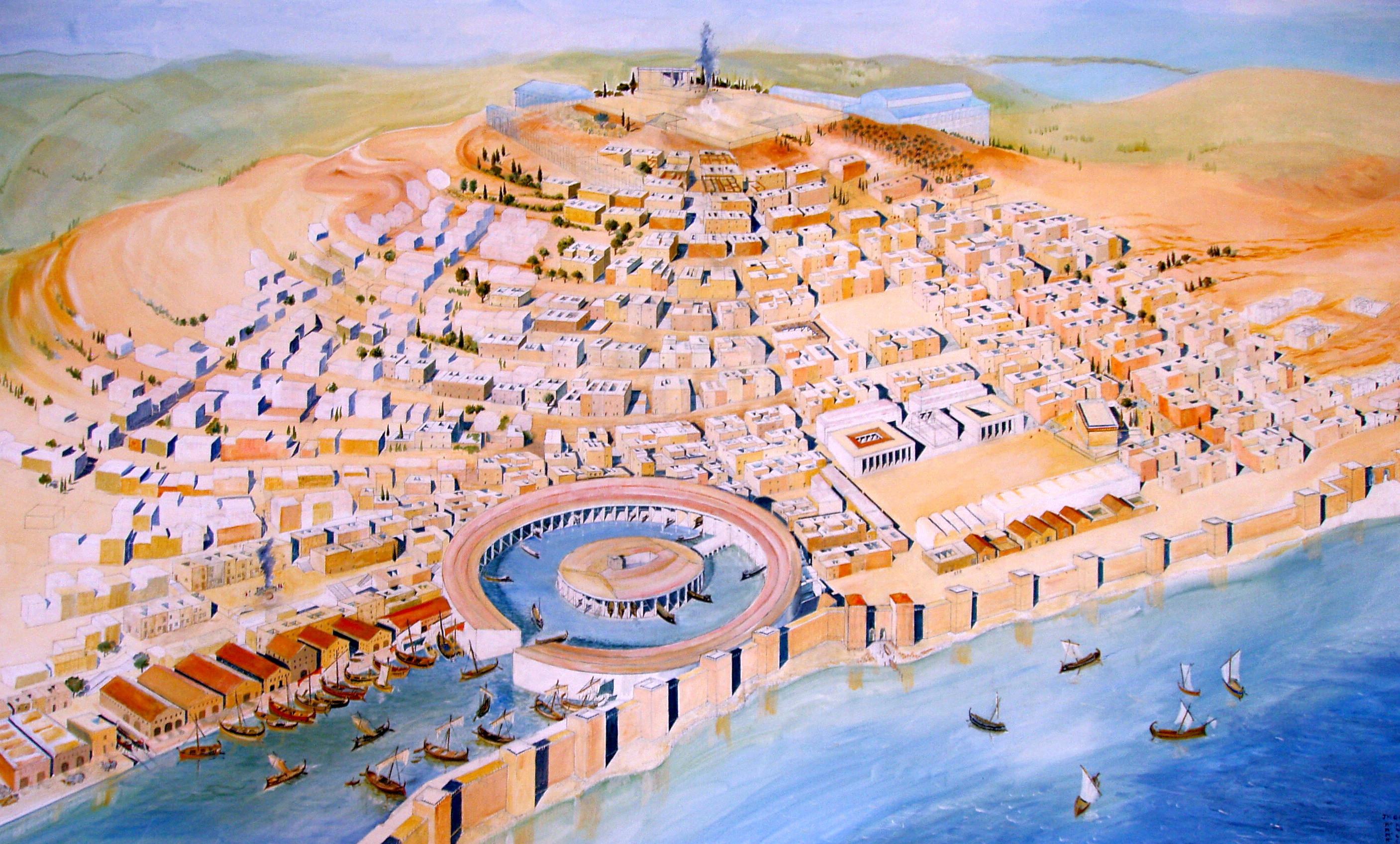 Representation of ancient Carthage