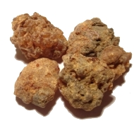 Small lumps of myrrh resin