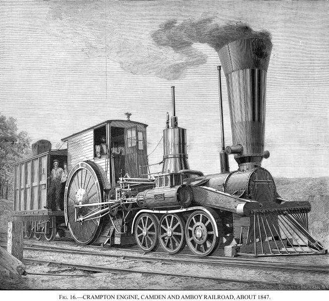 Dampflokomotive, um 1847
