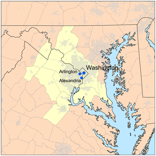 map of maryland and dc. That map of the DC area