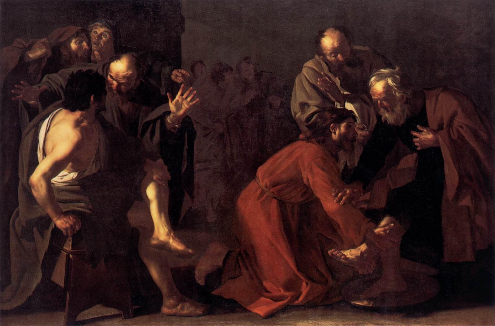 file dirck van baburen christ washing the apostles feet