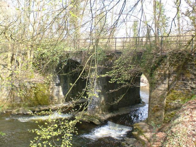 Disused railway bridge across river Ely - geograph.org.uk - 159416