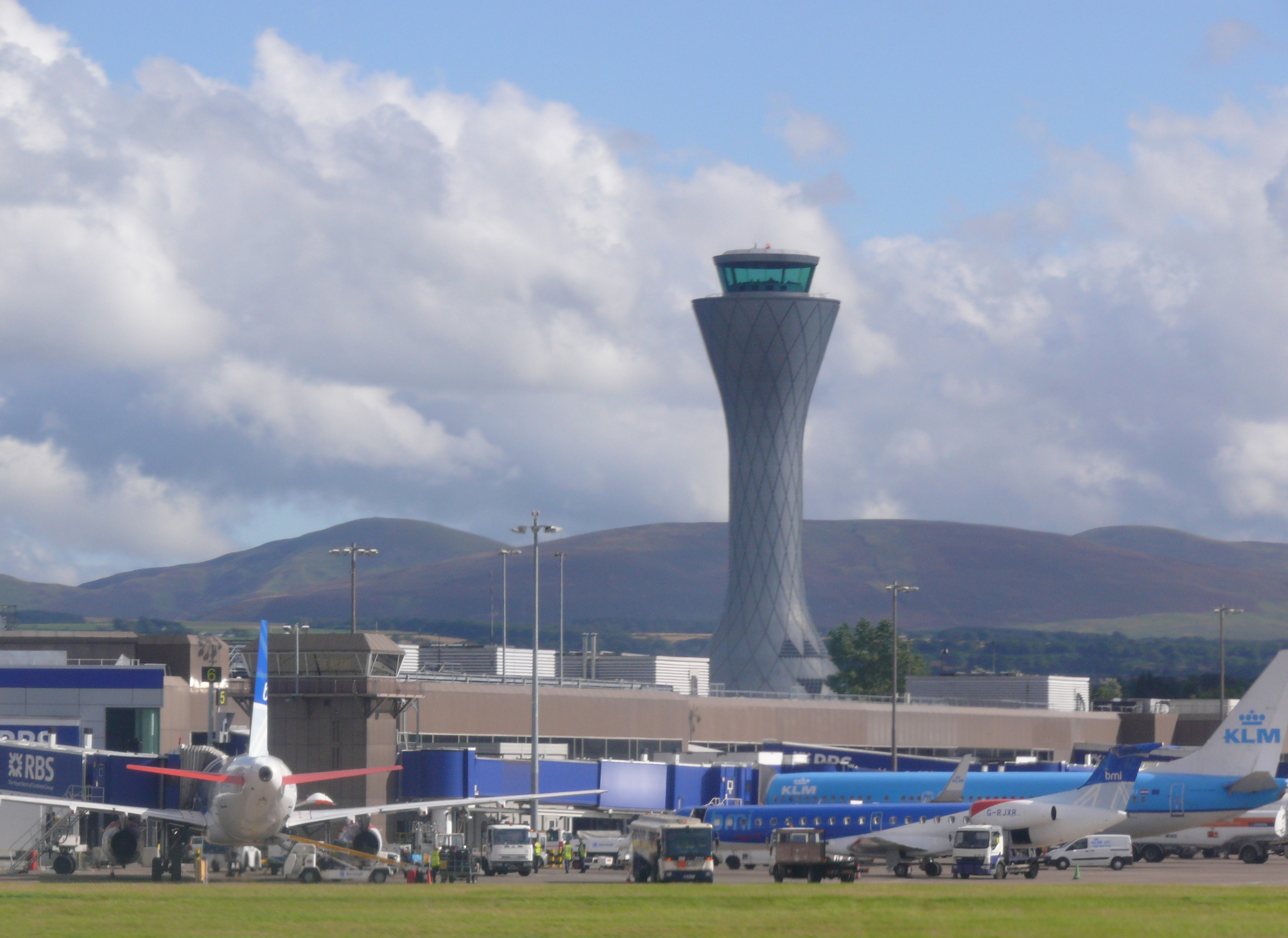 Edinburgh Airport is Scotland's busiest airport, handling over nine million passengers each year