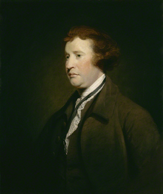 Painting of Edmund Burke MP {{circa|1767}},<br />studio of [[Joshua Reynolds]] {{smaller|(1723–1792)}}