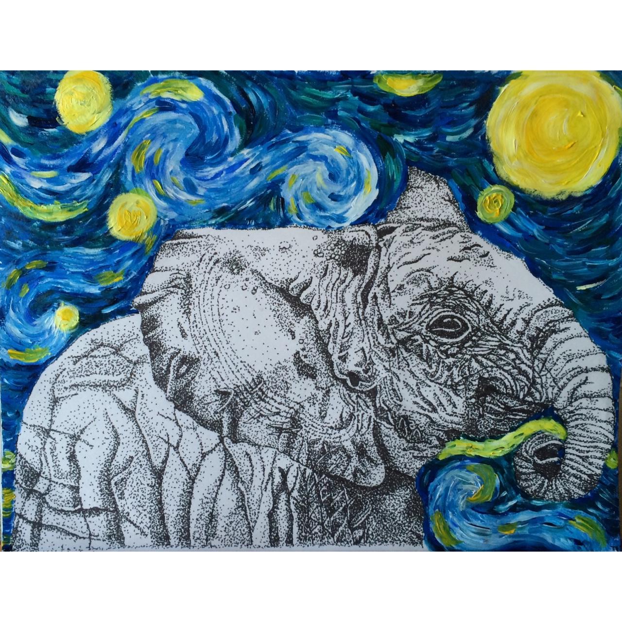 file elephant in starry night jpg wikimedia commons