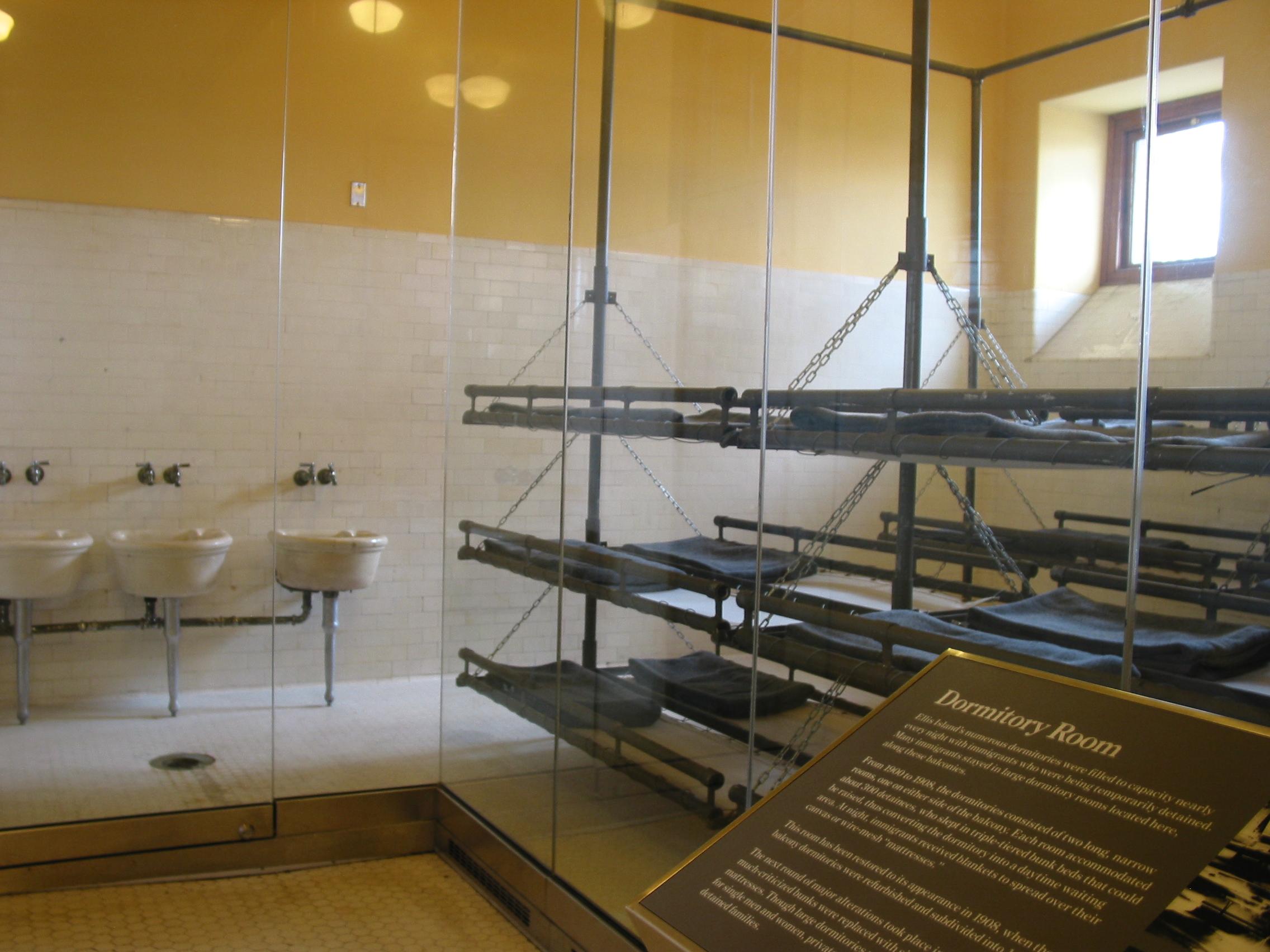 Ellis Island dormitory room.JPG