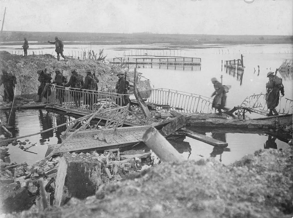 File:First of our men to cross the Somme, near Peronne (4687911197).jpg