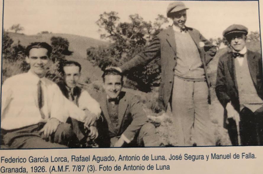 Excursión realizada en Granada por Federico Garcia Lorca y amigos