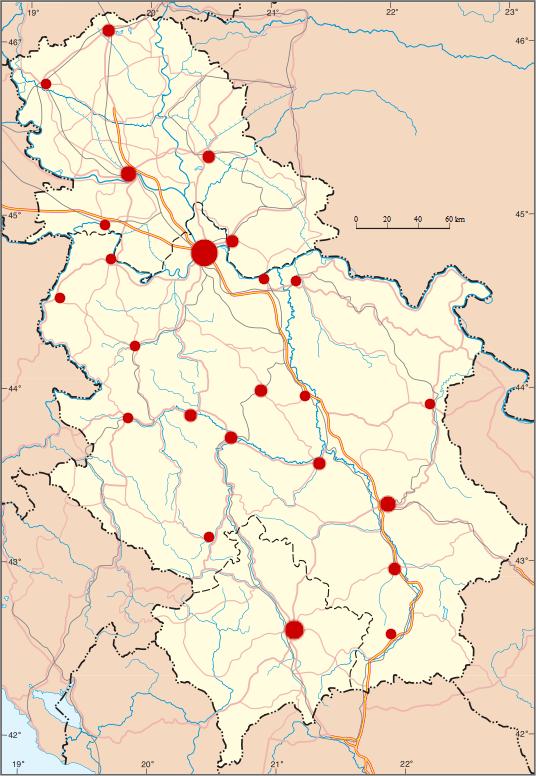 mapa srbije 2014 File:Gradovi Srbije.png   Wikimedia Commons mapa srbije 2014