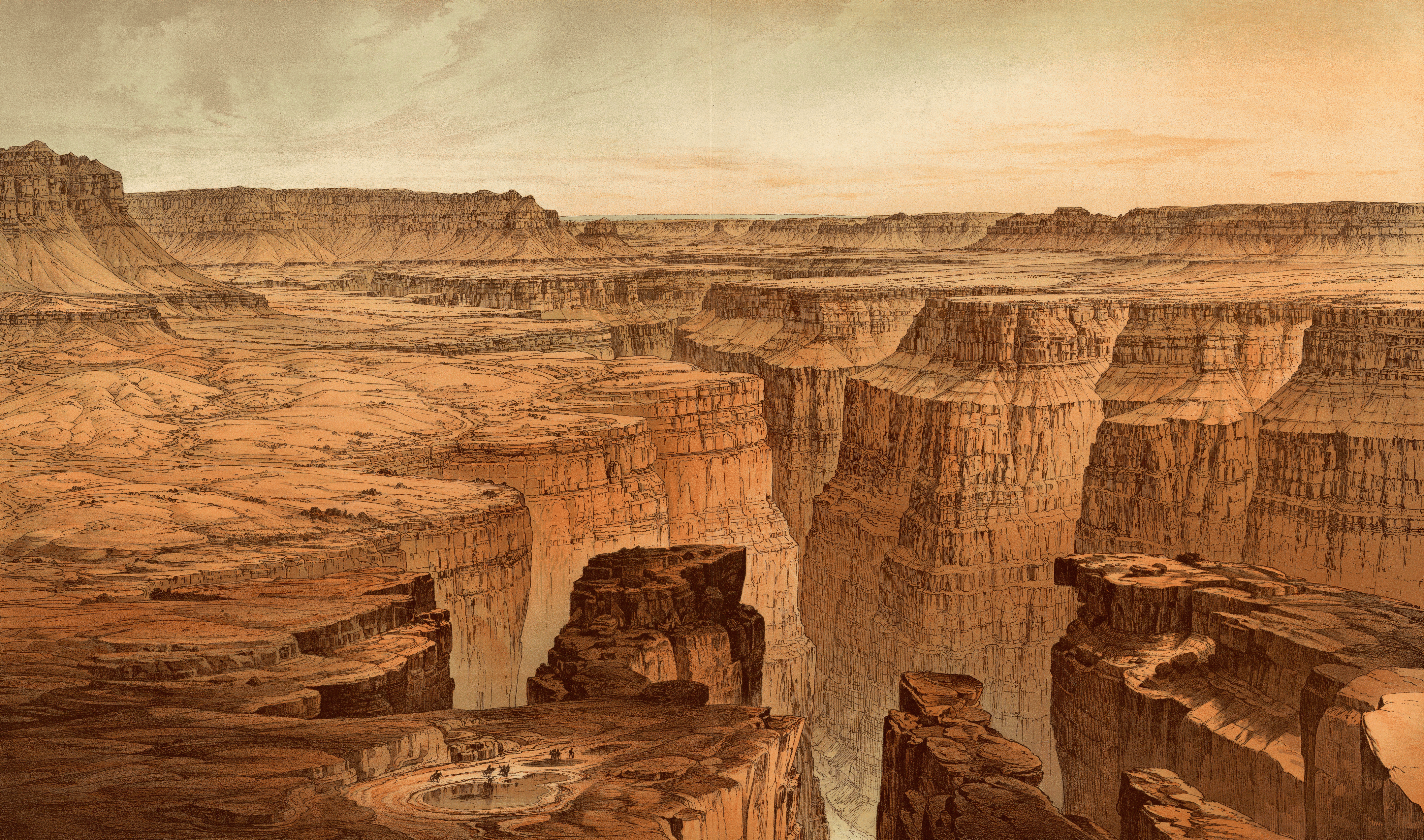 The Canyon Grand_Canyon_at_the_foot_of_the_Toroweap_-_looking_east,_William_Henry_Holmes