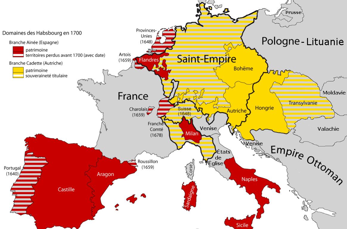 carte espagne 1700