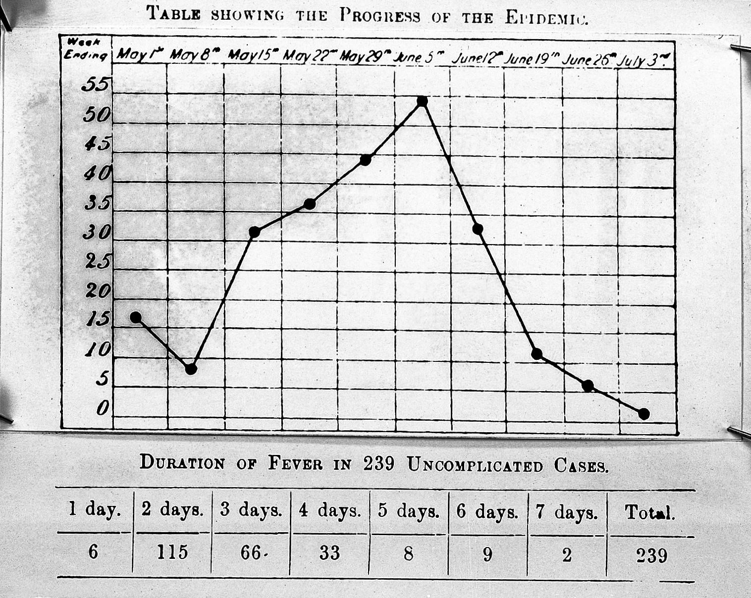 Medical Coding Charts: Influenza; fever charts 1891 Wellcome L0002737.jpg ,Chart