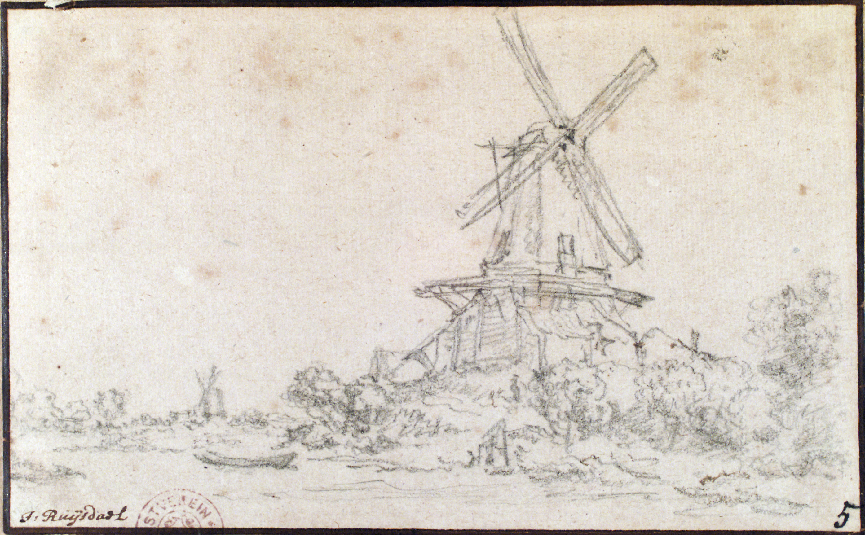 Drawing Lines James Rachels Summary : File jacob van ruisdael quot landscape with windmill g
