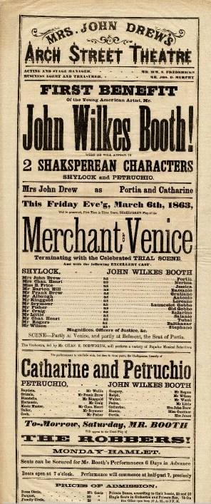 File John Wilkes Booth Shakespeare Playbill Jpg
