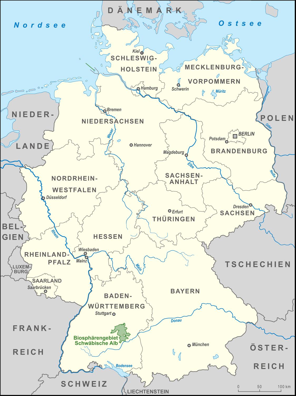 Schwäbische Alb Karte Städte.Biosphärengebiet Schwäbische Alb Wikipedia