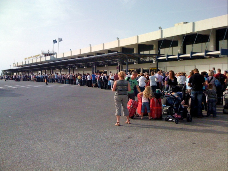 File:Kos airport queue.jpg
