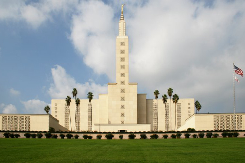 Built in 1956, the Los Angeles California Temple of The Church of Jesus Christ of Latter-day Saints is the second largest Mormon temple in the world