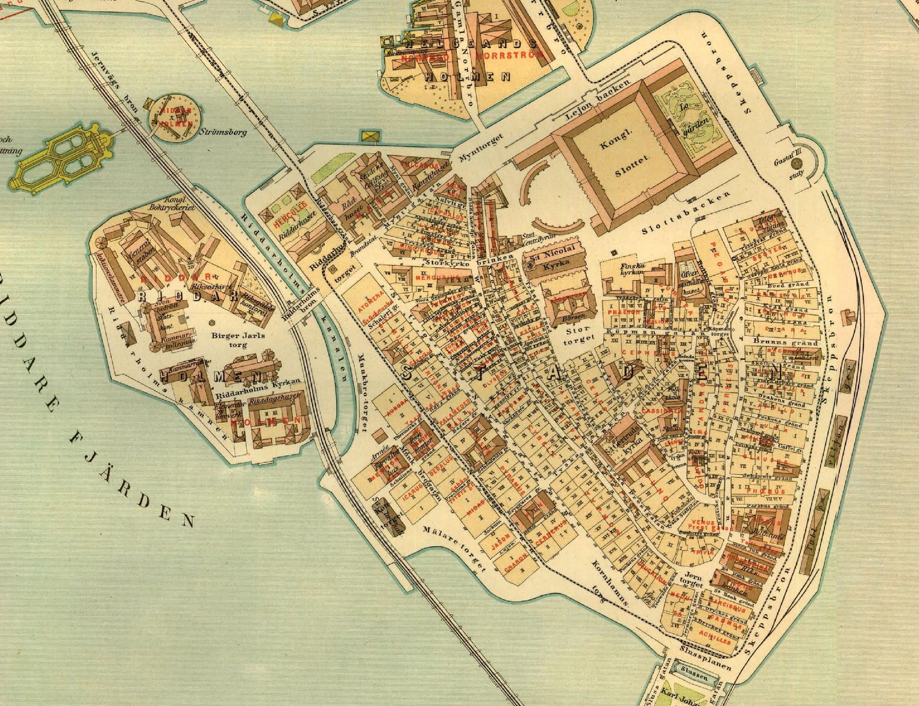 gamla stan karta Fil:Lundgrens karta över Gamla Stan 1885. – Wikipedia gamla stan karta