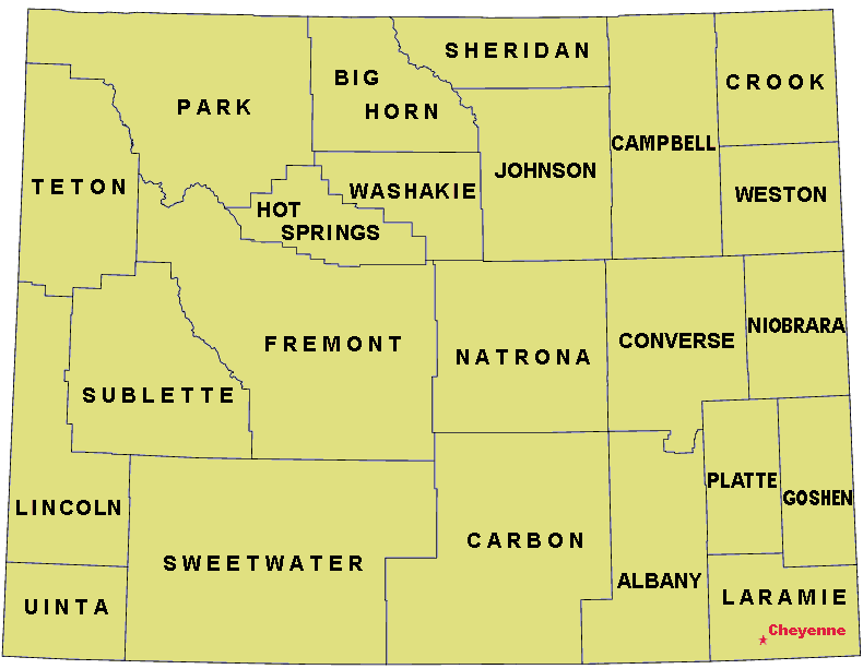 FileMap Wyoming Counties USA 90311png