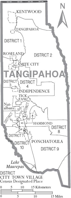 File Map Of Tangipahoa Parish Louisiana With Municipal And