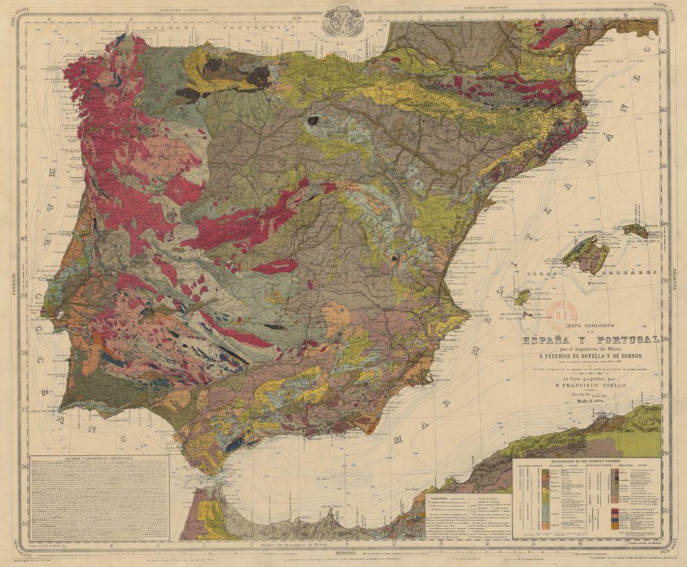 File Mapa Geologico De Espana Y Portugal Por El Ingeniero De