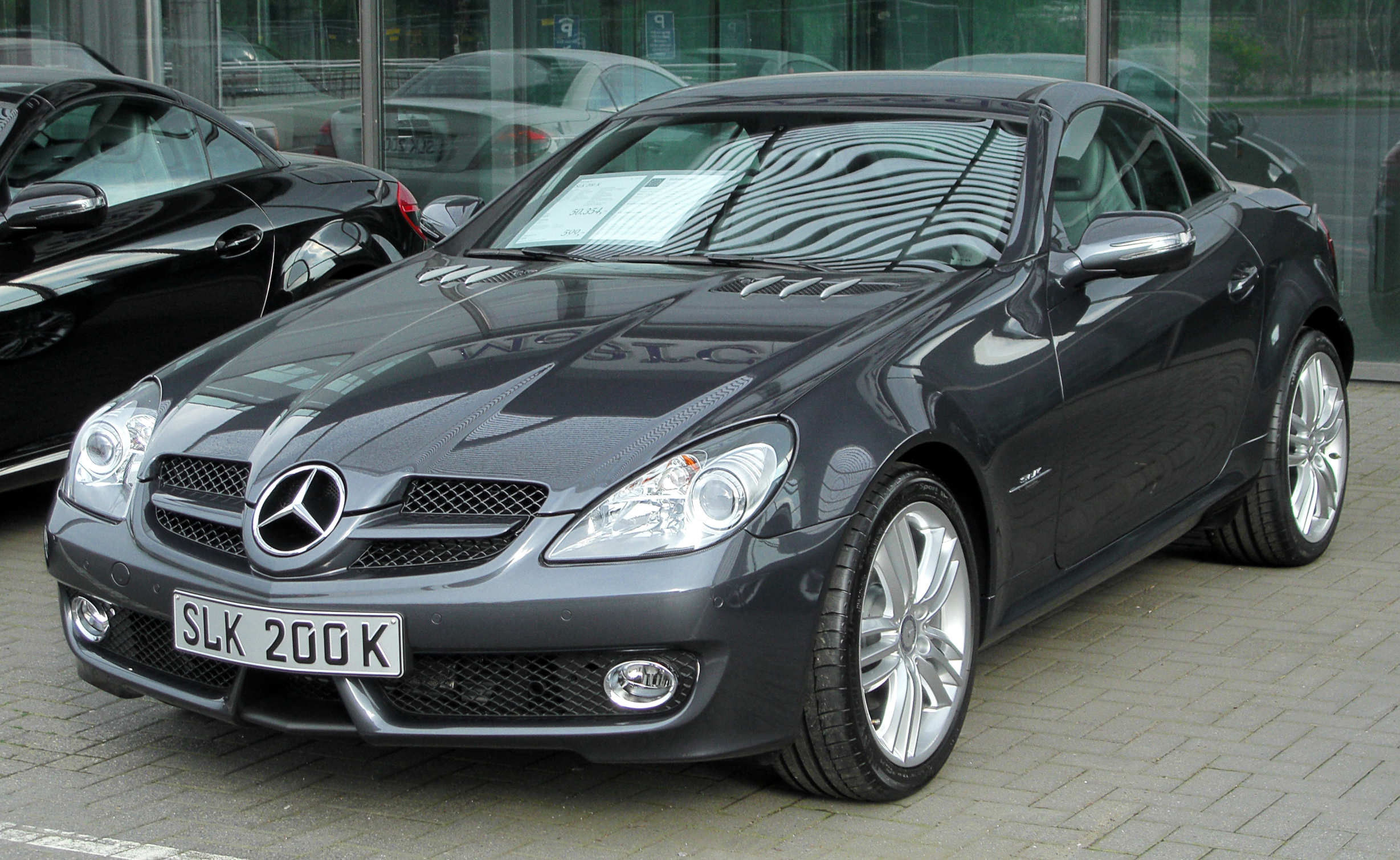 file mercedes slk 200 kompressor grand edition r171 facelift front wikimedia. Black Bedroom Furniture Sets. Home Design Ideas