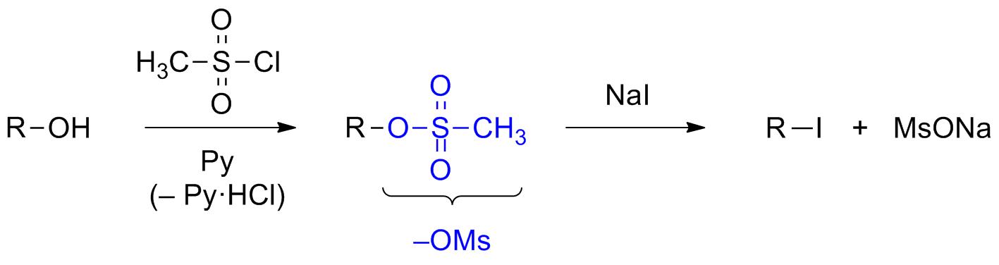 Нуклеофильное замещение в мезилатах