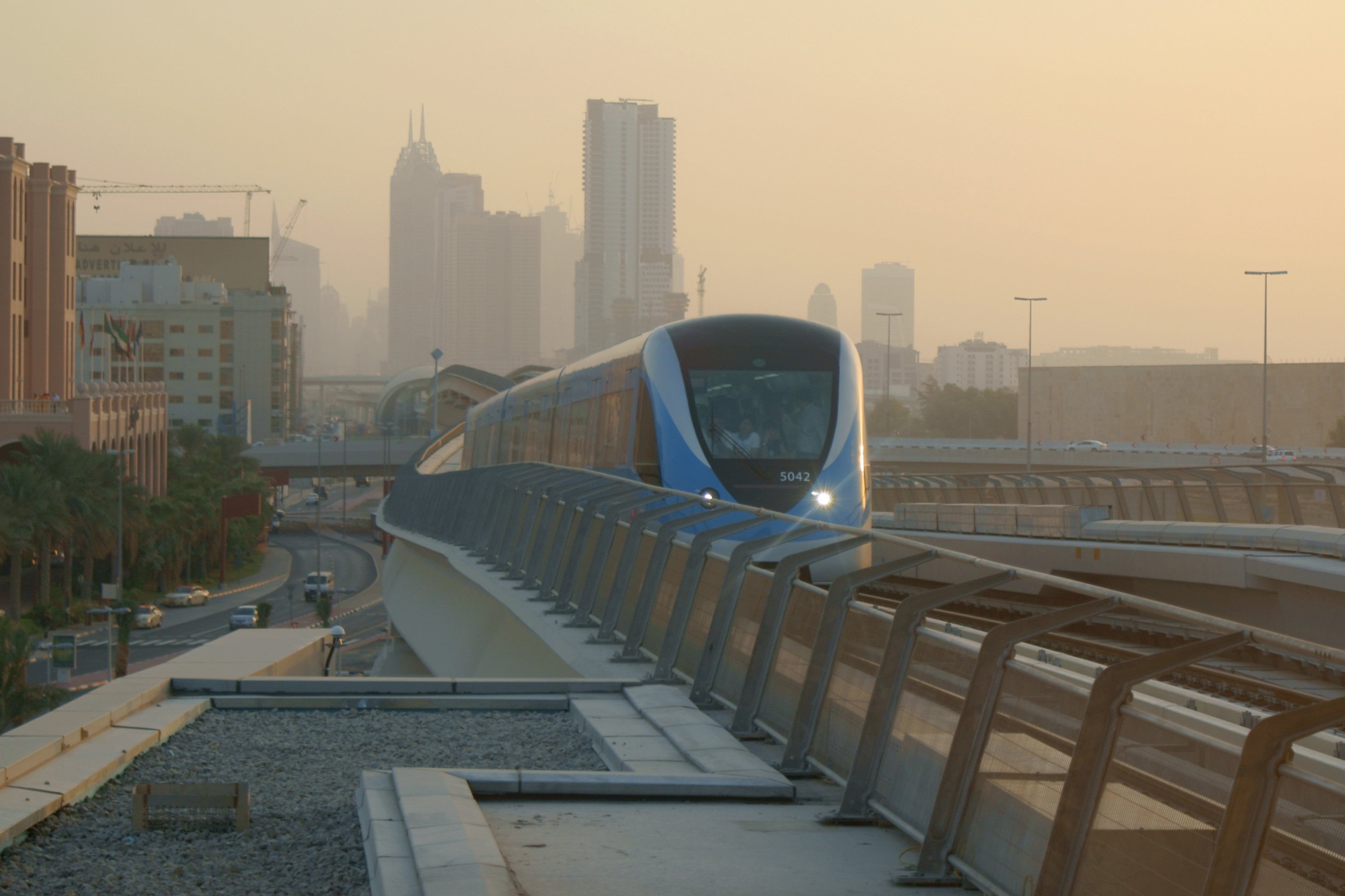 Dubai Metro on its opening day