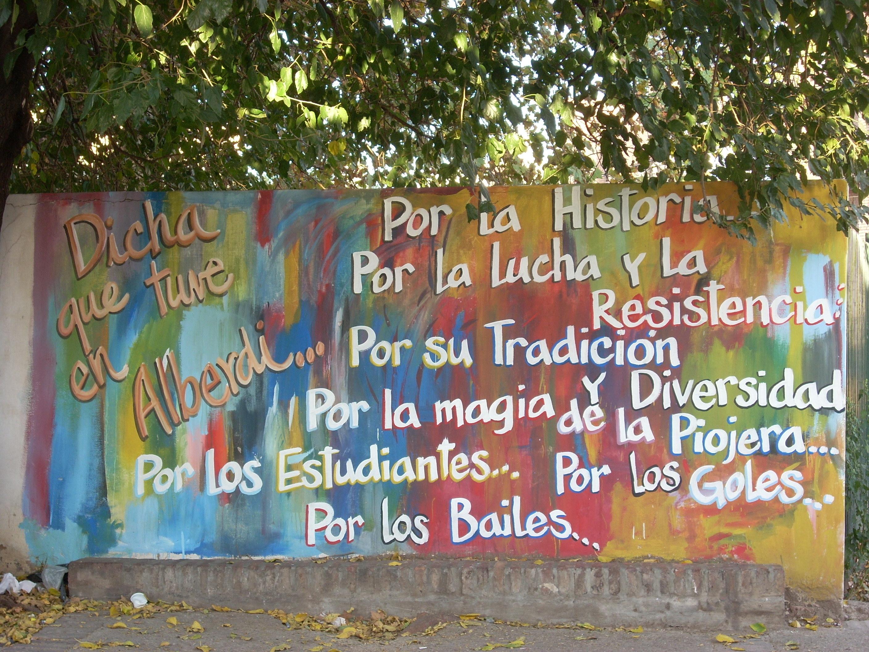 File mural en el paseo de la reforma universitaria barrio for El mural pelicula argentina