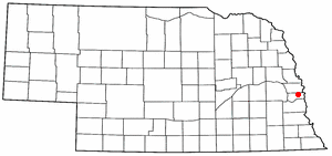 Location of Papillion, Nebraska