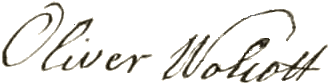 Oliver's signature on The Declaration of Independence
