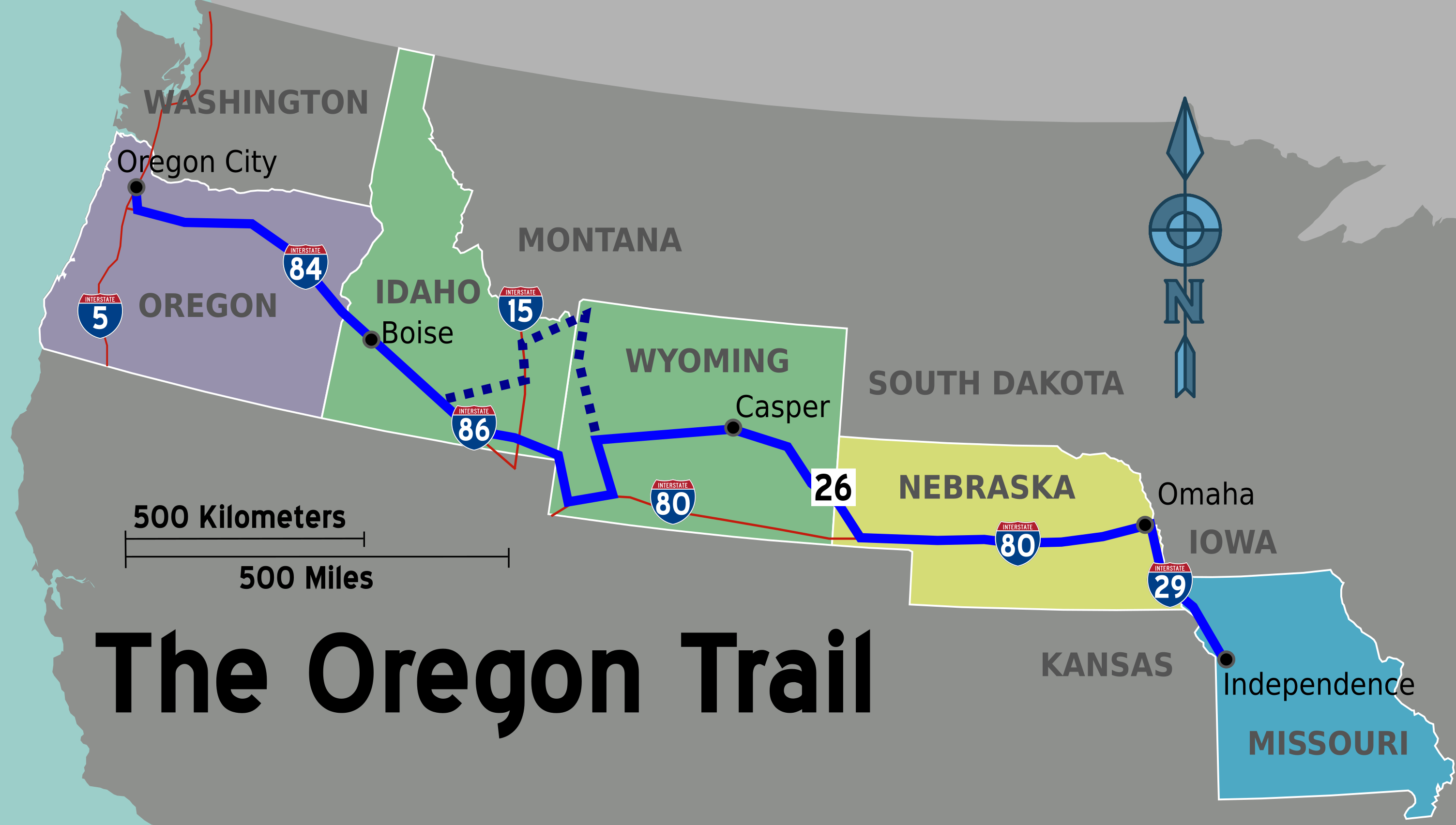 FileOregon Trail wikivoyage mappng Wikimedia Commons